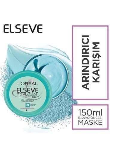 L'Oréal Paris Elseve 3 Mucizevi Kil Banyo Öncesi Kil Maskesi 150 Ml Renksiz